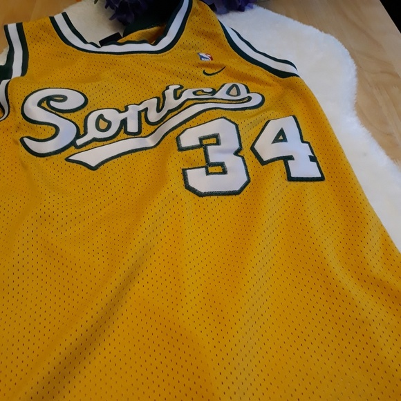 100% authentic 3d52c 2fa58 💋 Rare Nike Ray Allen #34 Vintage Sonics Jersey